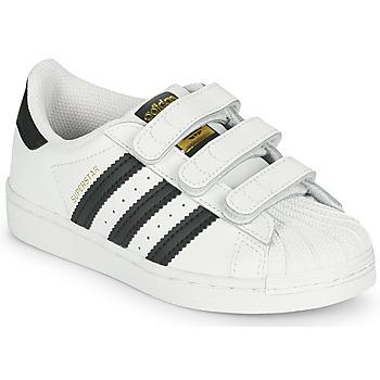 Obuća Djeca Niske tenisice adidas Originals SUPERSTAR CF C Bijela / Crna