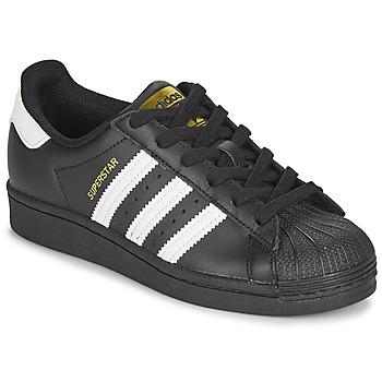 Obuća Djeca Niske tenisice adidas Originals SUPERSTAR J Crna / Bijela