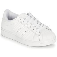 Obuća Djeca Niske tenisice adidas Originals SUPERSTAR C Bijela
