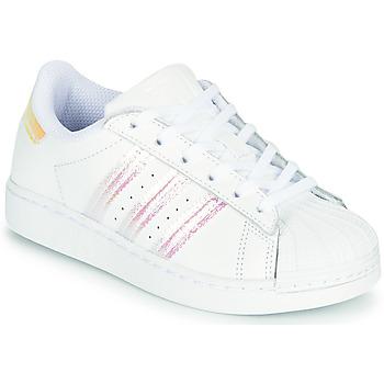 Obuća Djevojčica Niske tenisice adidas Originals SUPERSTAR J Bijela