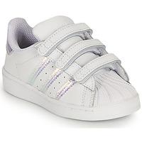 Obuća Djevojčica Niske tenisice adidas Originals SUPERSTAR CF I Bijela