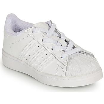Obuća Djevojčica Niske tenisice adidas Originals SUPERSTAR EL I Bijela