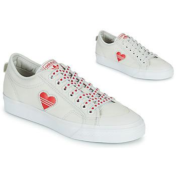Obuća Žene  Niske tenisice adidas Originals NIZZA  TREFOIL W Bijela / Red