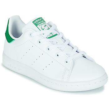 Obuća Djeca Niske tenisice adidas Originals STAN SMITH C SUSTAINABLE Bijela / Zelena