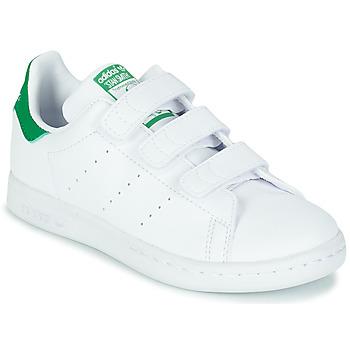 Obuća Djeca Niske tenisice adidas Originals STAN SMITH CF C SUSTAINABLE Bijela / Zelena / Vegan
