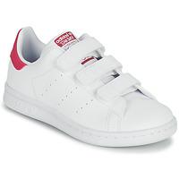 Obuća Djevojčica Niske tenisice adidas Originals STAN SMITH CF C SUSTAINABLE Bijela / Ružičasta