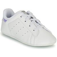 Obuća Djevojčica Niske tenisice adidas Originals STAN SMITH CRIB SUSTAINABLE Bijela / Srebrna
