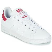 Obuća Djevojčica Niske tenisice adidas Originals STAN SMITH J SUSTAINABLE Bijela / Ružičasta