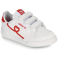 Obuća Djevojčica Niske tenisice adidas Originals CONTINENTAL 80 CF C Bijela / Red
