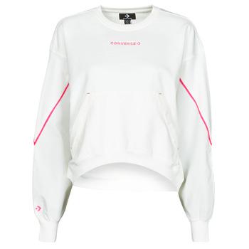 Odjeća Žene  Sportske majice Converse BLOCKED ALTERRAIN CREW Bijela