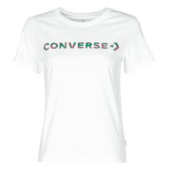Odjeća Žene  Majice kratkih rukava Converse CENTER FRONT ICON CLASSIC TEE Bijela