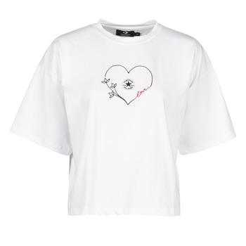 Odjeća Žene  Majice kratkih rukava Converse CHUCK WOMENS LOVE BOXY TEE Bijela
