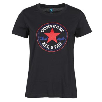 Odjeća Žene  Majice kratkih rukava Converse CHUCK PATCH NOVA TEE Crna