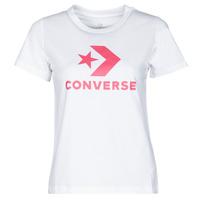 Odjeća Žene  Majice kratkih rukava Converse STAR CHEVRON CENTER FRONT TEE Bijela
