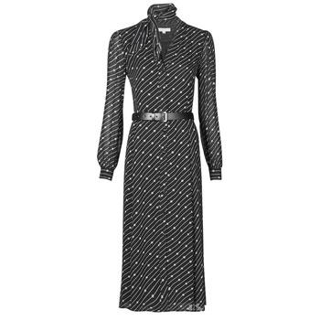 Odjeća Žene  Duge haljine MICHAEL Michael Kors CIRCLE LOGO SHRT DRS Crna / Bijela