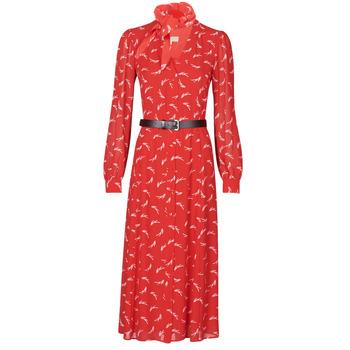 Odjeća Žene  Duge haljine MICHAEL Michael Kors SIGNTRE LOGO SHRT DRS Red