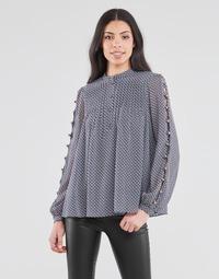 Odjeća Žene  Topovi i bluze MICHAEL Michael Kors MINI FLORAL LS TOP Blue