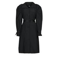 Odjeća Žene  Baloneri Karl Lagerfeld DRAPEDTRENCHCOAT Crna