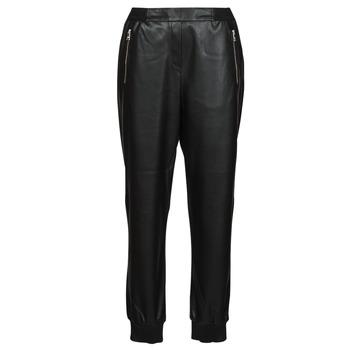 Odjeća Žene  Hlače s pet džepova Karl Lagerfeld FAUXLEATHERJOGGERS Crna