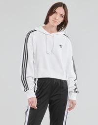 Odjeća Žene  Sportske majice adidas Originals SHORT HOODIE Bijela