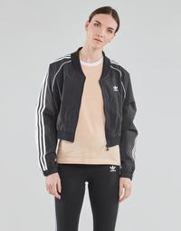 Odjeća Žene  Gornji dijelovi trenirke adidas Originals SHORT TRACKTOP Crna