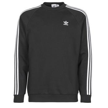 Odjeća Muškarci  Sportske majice adidas Originals 3-STRIPES CREW Crna