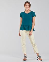 Odjeća Žene  Traperice ravnog kroja Lee CAROL Krem boja