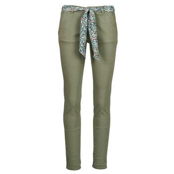 Odjeća Žene  Chino hlačei hlače mrkva kroja Le Temps des Cerises LIDY Kaki