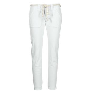 Odjeća Žene  Hlače s pet džepova Le Temps des Cerises EZRA Bijela