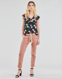Odjeća Žene  Hlače s pet džepova Le Temps des Cerises EZRA Smeđa