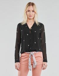 Odjeća Žene  Topovi i bluze Le Temps des Cerises RUSSELA Crna