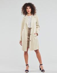 Odjeća Žene  Kaputi Esprit SUEDE COAT Bež