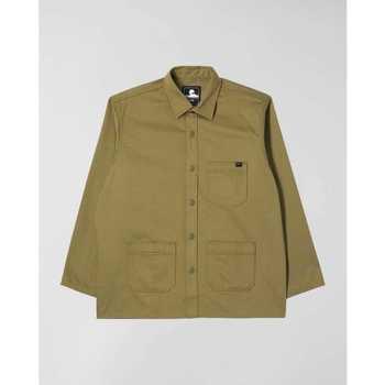 Odjeća Muškarci  Košulje dugih rukava Edwin Chemise  Major olive