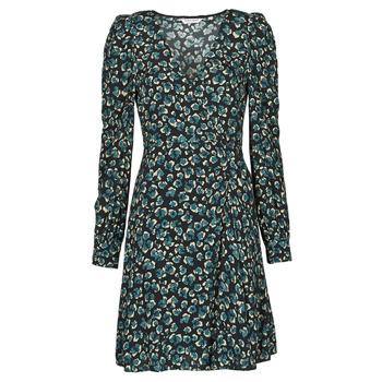 Odjeća Žene  Kratke haljine Naf Naf LEO R1 Crna / Zelena