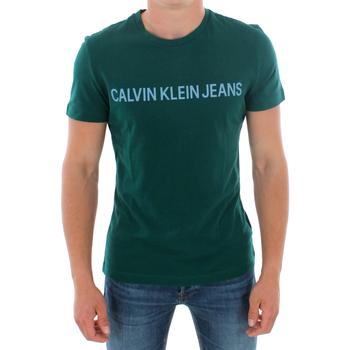 Odjeća Muškarci  Majice kratkih rukava Calvin Klein Jeans J30J307856 383 GREEN Verde oscuro