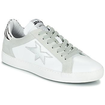 Obuća Žene  Niske tenisice Meline KUC256 Bijela / Srebrna / Zebra