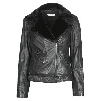 Odjeća Žene  Kožne i sintetičke jakne Naf Naf CILL Crna