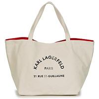 Torbe Žene  Shopper torbe Karl Lagerfeld RUE ST GUILLAUE CANVAS TOTE Krem boja