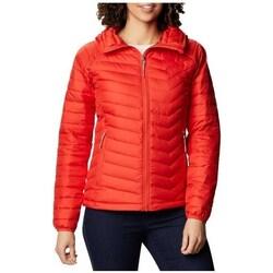 Odjeća Žene  Jakne Columbia WM Powder Lite Hooded Jacket Red