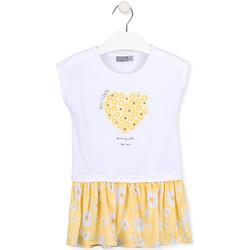 Odjeća Djevojčica Kratke haljine Losan 016-7021AL Bijela