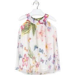 Odjeća Djevojčica Kratke haljine Losan 016-7793AL Bijela