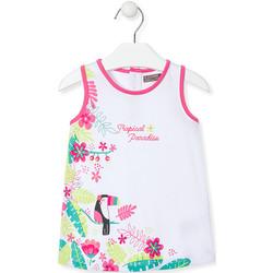 Odjeća Djevojčica Kratke haljine Losan 018-7005AL Bijela