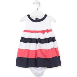 Odjeća Djevojčica Kratke haljine Losan 018-7793AL Bijela