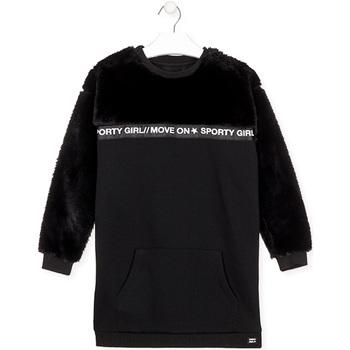 Odjeća Djevojčica Kratke haljine Losan 024-7006AL Crno