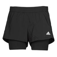 Odjeća Žene  Bermude i kratke hlače adidas Performance PACER 3S 2 IN 1 Crna