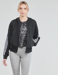 Odjeća Žene  Gornji dijelovi trenirke adidas Performance W 3S FZ HD Crna