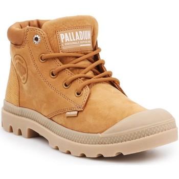 Obuća Žene  Polučizme Palladium Manufacture Pampa Cuff Lea Smeđa