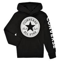 Odjeća Dječak  Sportske majice Converse SIGNATURE CHUCK PATCH HOODIE Crna