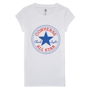 Odjeća Djevojčica Majice kratkih rukava Converse TIMELESS CHUCK PATCH TEE Bijela