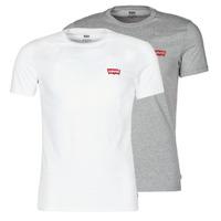 Odjeća Muškarci  Majice kratkih rukava Levi's 2PK CREWNECK GRAPHIC Bijela